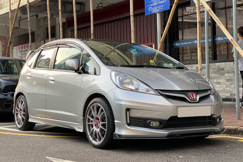 Honda GE6 Jazz and oz ultraleggera wheels and wheels hk and tyre shop hk and Michelin ps4 tyres and 呔鈴