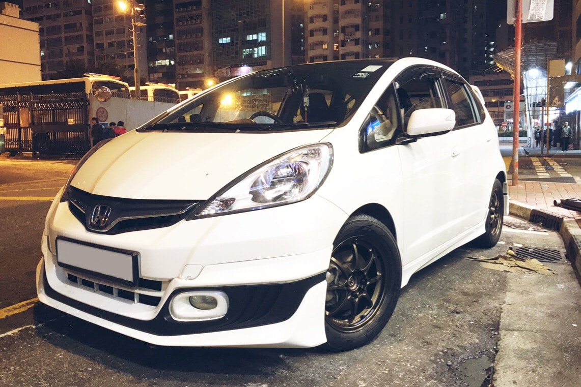 Honda Jazz and RAYS Volk Racing CE28N Wheels and 呔鈴