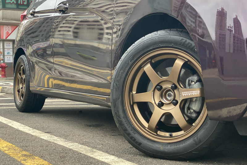 Honda jazz and rays te37 sonic wheels and tyre shop hk and bridgestone re004 tyres and 呔鈴