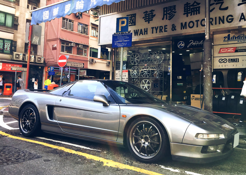 Honda NSX and RAYS Volk Racing CE28SL Wheels and 呔鈴