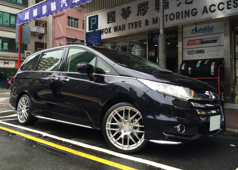 Honda Odyssey and Modulare Wheels B14 EVO and 呔鈴 and wheels hk