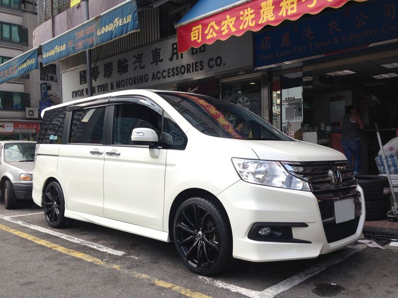 Honda Stepwgn and RAYS Versus Chrysaor Wheels and 呔鈴 and wheels hk