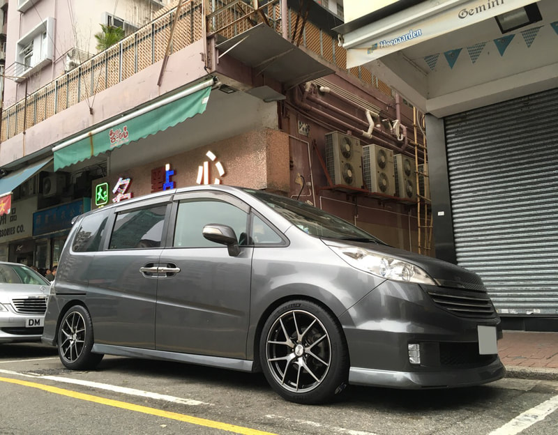 Honda Stepwgn and RAYS Homura A5S Wheels and 呔鈴 and wheels hk