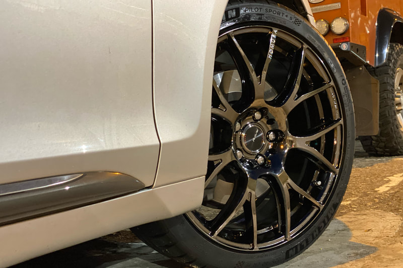 Lexus GS300 and RAYS Homura 2x7AG Wheels and wheels hk and tyre shop and 呔鈴