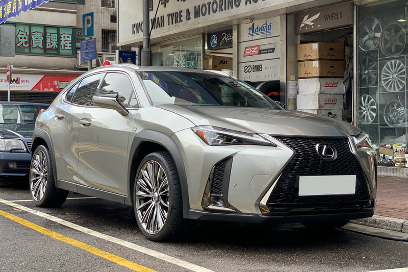 Lexus UX and RAYS Versus Vouge Wheels and wheels hk and tyre shop hk and michelin ps4s tyres