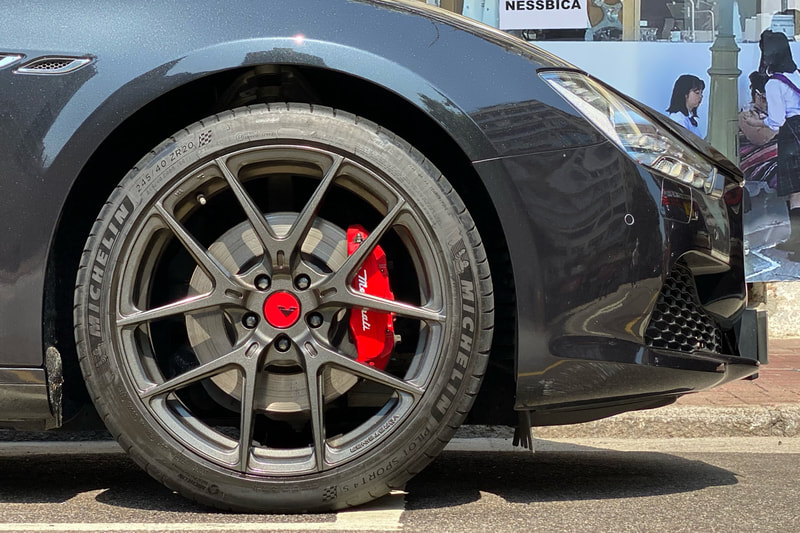 Maserati Ghibli and Vorsteiner Wheels VFF101 and wheel shop and tyre shop and Michelin PS4S tyres