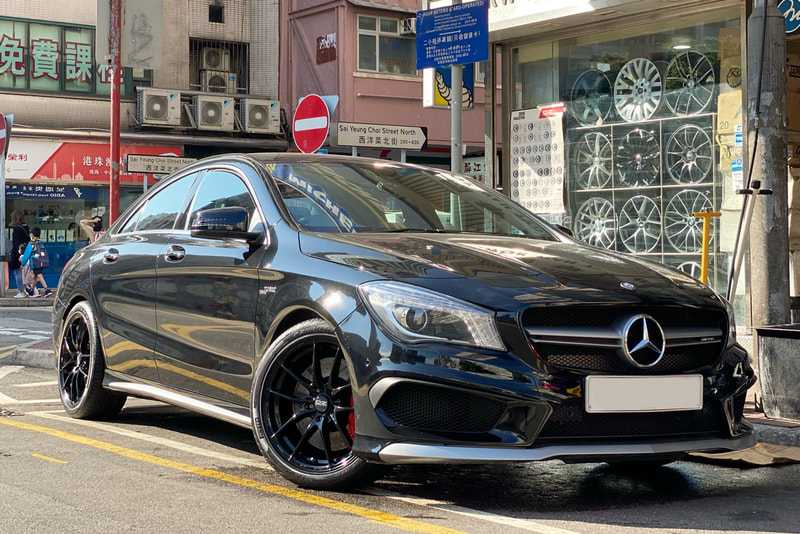 Mercedes Benz C117 CLA45 CLA and OZ Racing Leggera Wheels and tyre shop hk and 呔鈴