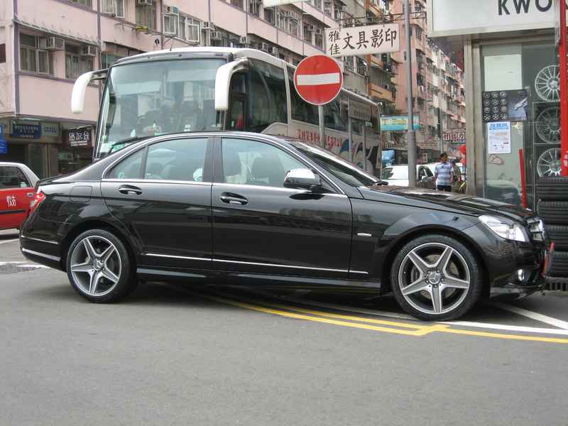 Mercedes Benz W204 and AMG Wheels and 呔鈴