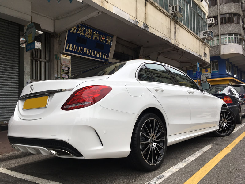 "Mercedes Benz W205 C Class with 19"" AMG Multispoke Black"
