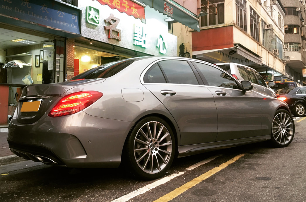 "Mercedes Benz W205 C-Class with 19"" AMG Multispoke Himlaya Gray"