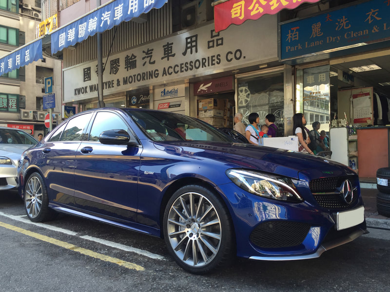 "Mercedes Benz W205 C43 AMG with 19"" AMG Multispoke in Himilaya gray"