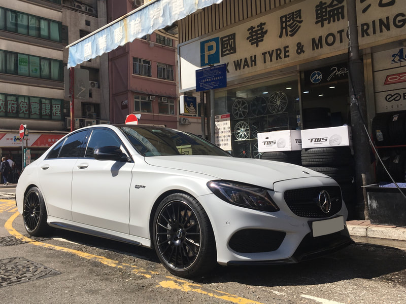 "Mercedes Benz W205 C43 AMG with 19"" TWS Forged GT283 Black"