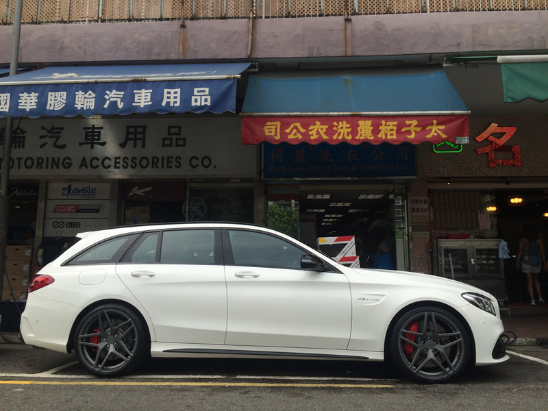 "Mercedes Benz S205 C63S with 20"" Modulare Wheels B32 Satin Anthracite"