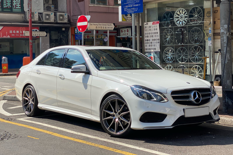Mercedes Benz W212 E class and Vossen HF3 Wheels and wheels hk and tyre shop hk and Michelin ps4s tyres and 呔鈴