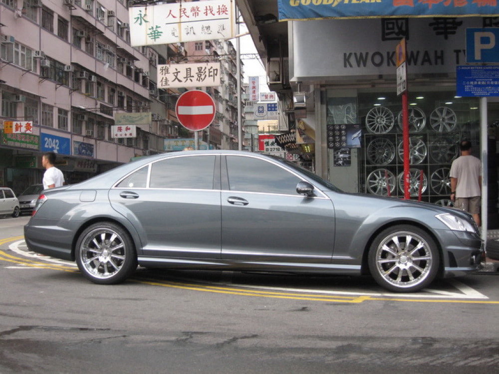 mercedes benz s class w221 and AMG wheels and wheels hk and tyre shop hk