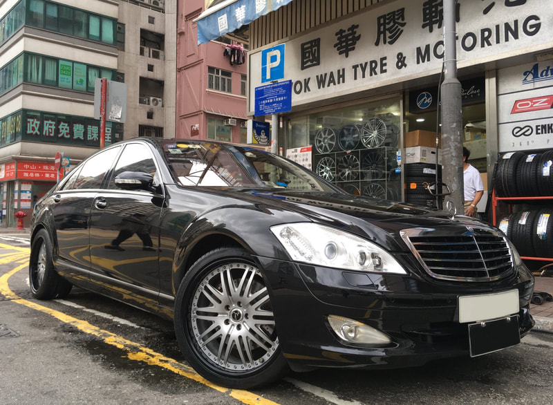 mercedes benz s class w221 and modulare wheels m4 and wheels hk and tyre shop hk
