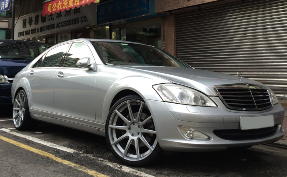 mercedes benz s class w221 and modulare wheels b15evo and wheels hk and tyre shop hk