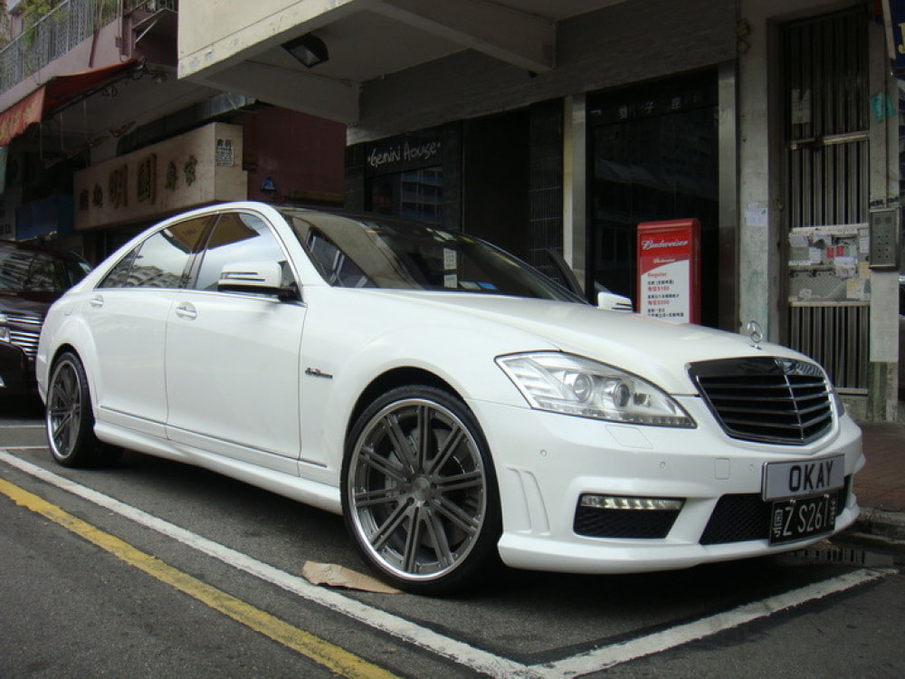 mercedes benz s class w221 and modulare wheels c11 and wheels hk and tyre shop hk