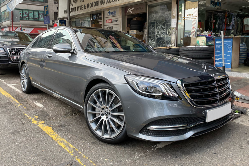 Mercedes Benz W222 S450 and AMG Mulitspoke Wheels and wheels hk and tyre shop hk
