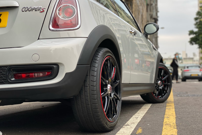 Mini Cooper R53 and RAYS 57 Transcend Wheels and wheels hk and tyre shop hk and 呔鈴