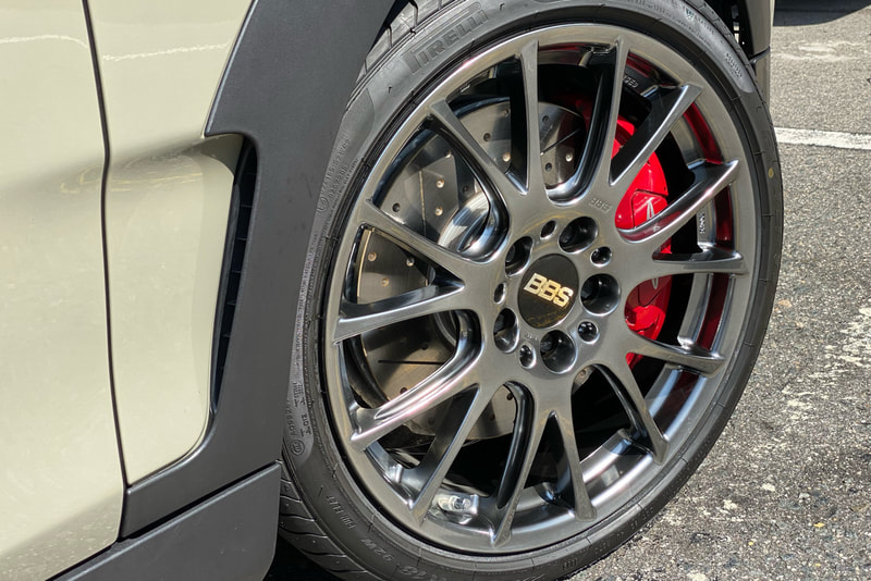 Mini F54 Clubman and BBS REV Wheels and wheels hk and 呔鈴 and pirelli pzero tyres