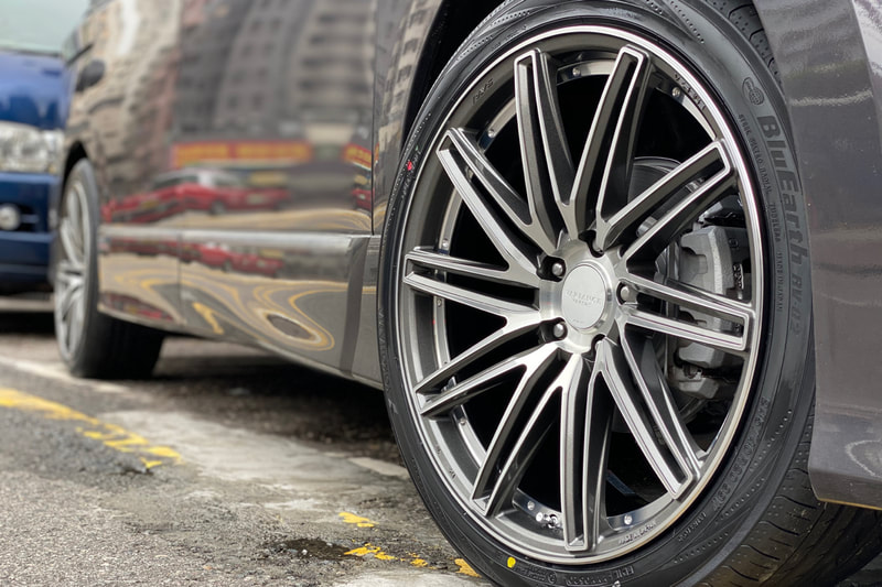 RAYS VV10S Wheels and Nissan E52 Elgrand and wheels hk and tyre shop hk and 呔鈴