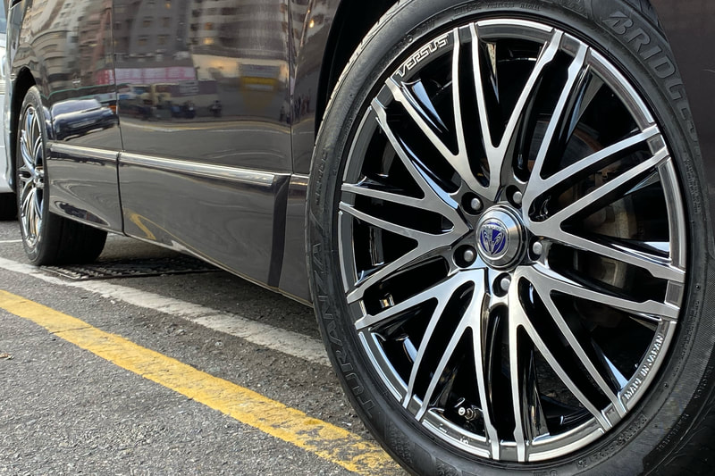 Nissan Elgrand and RAYS Versus Valore Wheels and wheels hk and 呔鈴