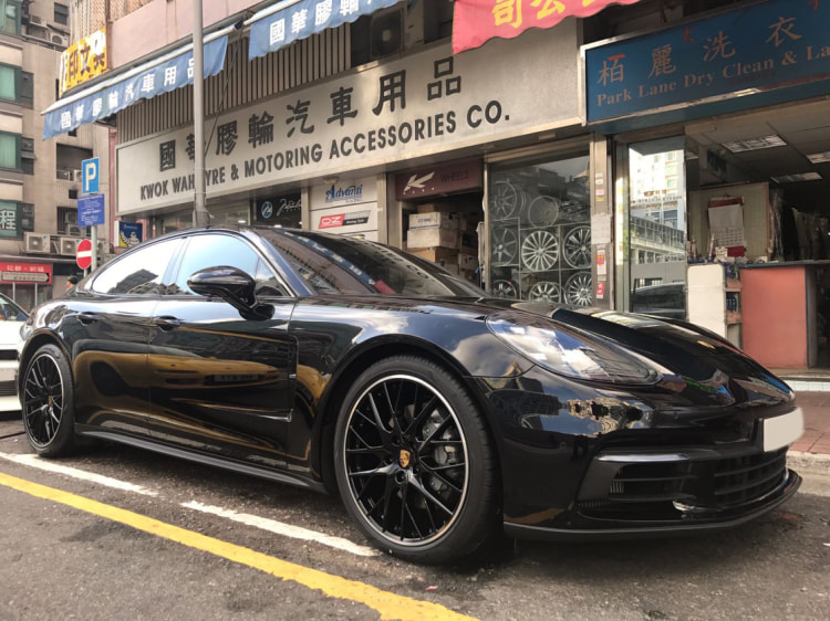 Porsche Panamera and Sport Design Wheels and 呔鈴 and wheels hk