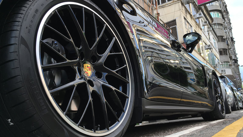 Porsche Panamera and porsche panamera sport design wheels and wheels hk and tyre shop hk