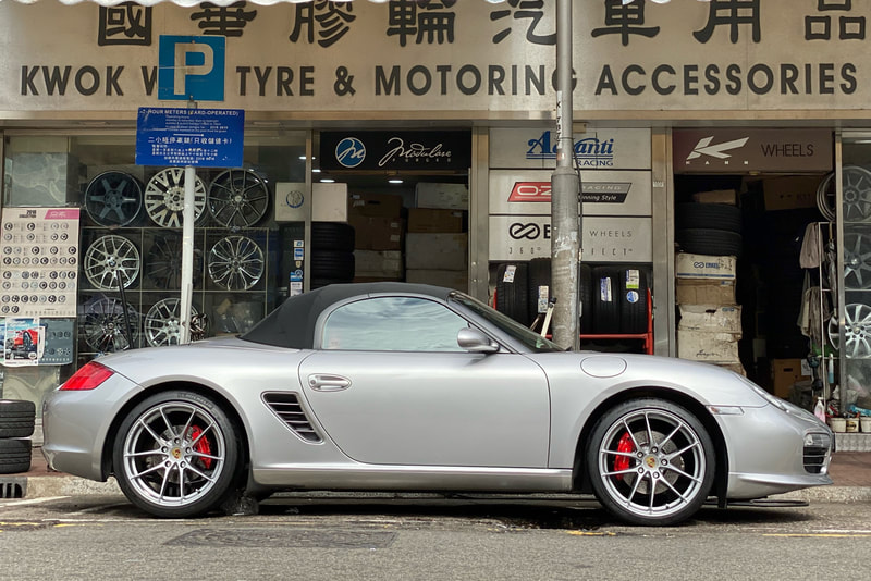 Porsche Boxster and OZ Racing Wheels Leggera HLT and wheels hk and 呔鈴 and michelin ps2 tyres