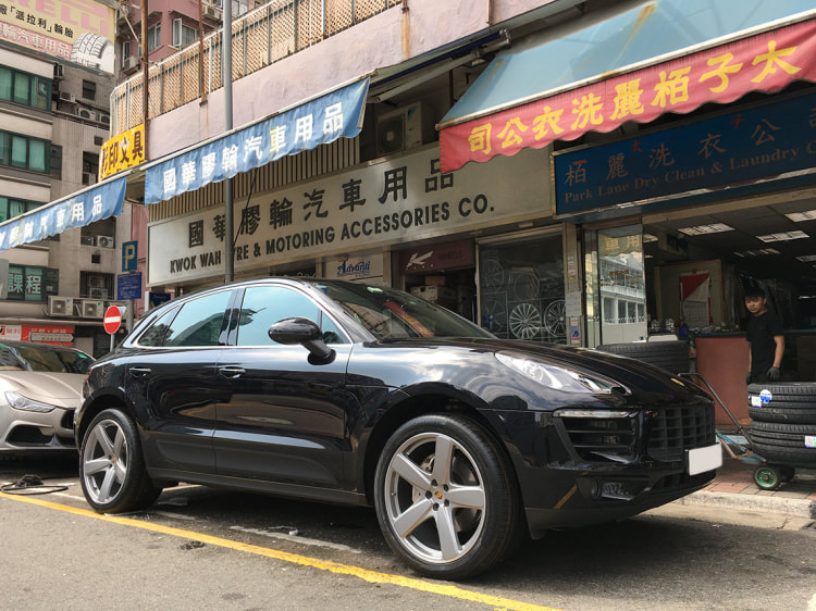 Porsche Macan S and Porsche Sport Classic Wheels and wheels hk and 呔鈴