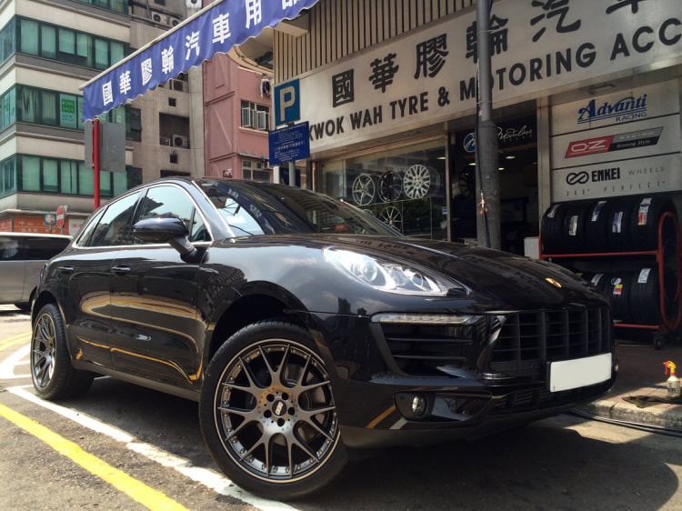 Porsche Macan and BBS CHR II wheels and wheels hk and 呔鈴
