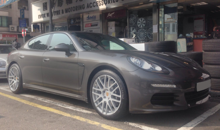 Porsche Panamera and Modulare Wheels B14 and 呔鈴 and wheels hk