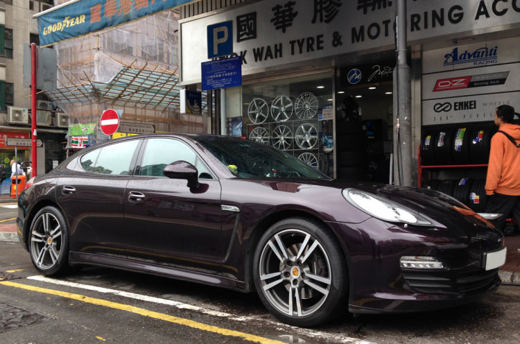 Porsche Panamera and Turbo II Wheels and 呔鈴 and wheels hk