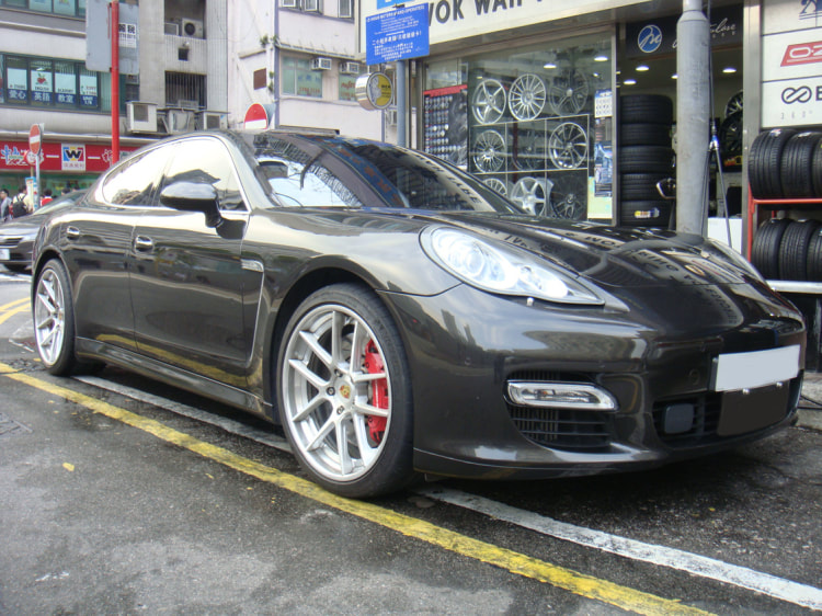 Porsche Panamera and ADV1 Wheels and 呔鈴 and wheels hk