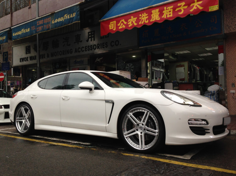 Porsche Panamera and Modulare Wheels C11 and 呔鈴 and wheels hk