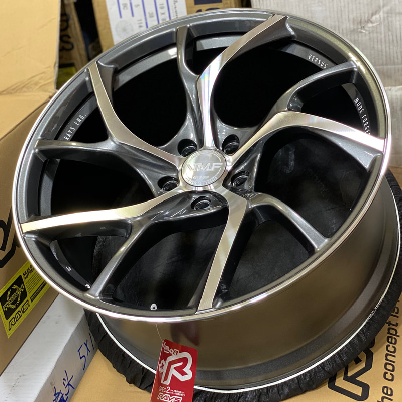 Tesla Model 3 and RAYS Wheels VMF C01 and 呔鈴