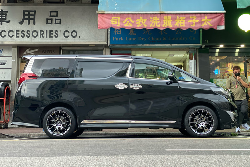 Toyota Alphard and RAYS Homura 2x7 Jet Black Wheels and wheels hk and tyre shop hk and 呔鈴
