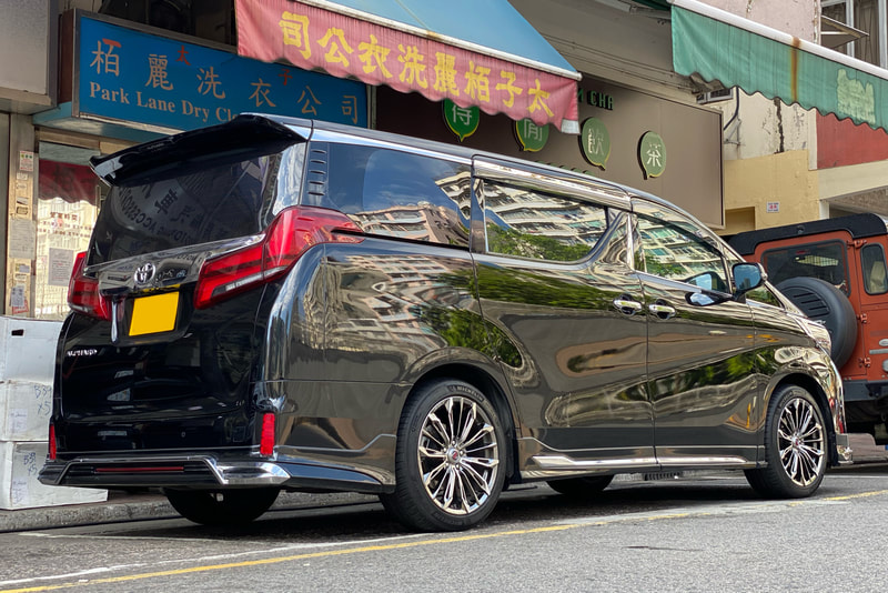 Toyota Alphard and RAYS Versus Triaina Wheels and wheels hk and 呔鈴