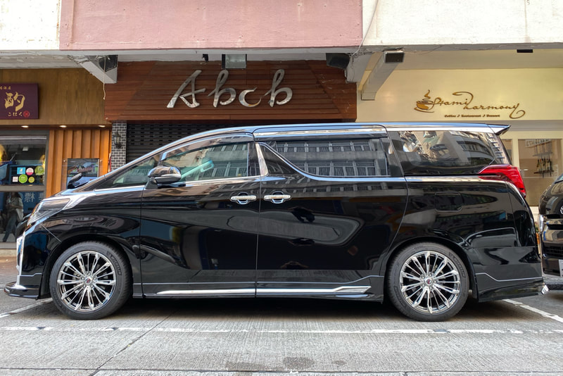 Toyota Alphard and RAYS Versus Stratagia Triaina wheels and wheels hk and 呔鈴