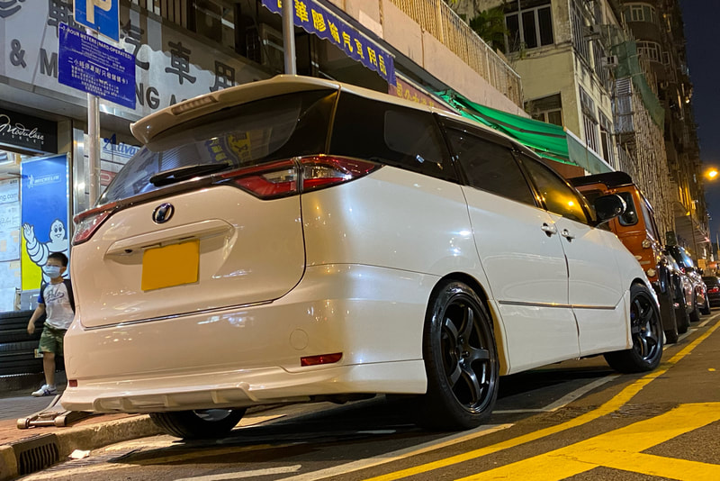 Toyota Previa and Estima and Rays 57CR Wheels and tyre shop hk and 呔鈴