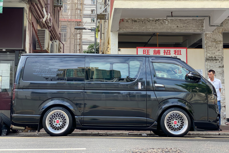 Toyota Hiace and ESSEX ENCM 18 Wheels and wheels hk and tyre shop hk and 呔鈴