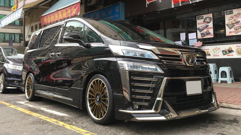 "Toyota Vellfire with 20"" Crimsson CV FIN Bronze"