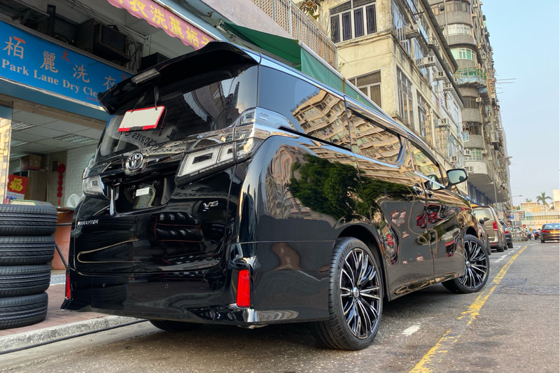 Toyota Vellfire and RAYS Versus Stratagia Lucianna and wheels hk and 呔鈴