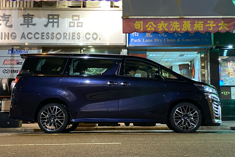 Toyota Vellfire and RAYS CNA Wheels and Wheels hk and 呔鈴