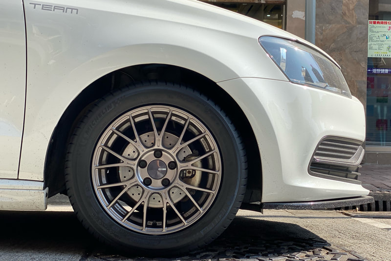 Volkswagen Polo and Enkei Racing PFM1 wheels and tyre shop hk and wheel shop hk and Michelin PS3 tyre and 呔鈴